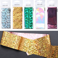 2017 nail art new various colors plastic paper nail transfer foil for sale