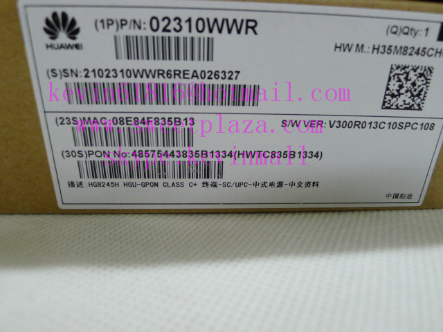 Huawei wireless Gpon Terminal HG8245H, class C+ ONU, 4 GE LAN and 2 voice ports, with BBU and USB port, English version