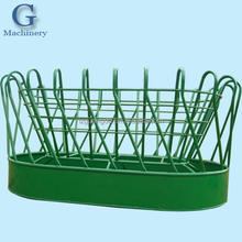 steel tube fabricated livestock round bale feeder