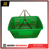 New types grocery market used shopping basket with two handles