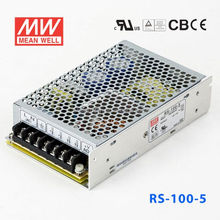 RS-100-5 80W 5V/16A High efficiency, long life and high reliability AC-DC Single Meanwell Switch Power Supply