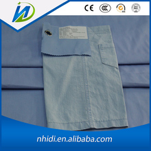Sky blue 98 Cotton 2 Spandex elastic twill woven pants fabric