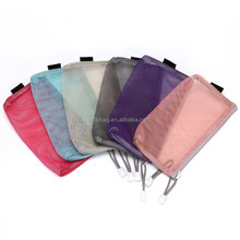 Multicolor Nylon Mesh Cosmetic Makeup Bag with Zipper Lightweight Portable Travel Toiletry Pouch Pencil Bag for Travel Necessity
