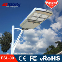 Ce Fcc Rohs Led Street Light 30W 12V Battery Rechargeable