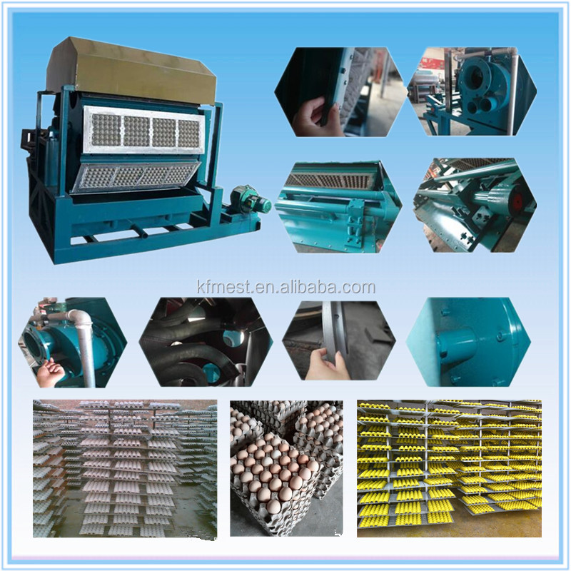 Pulp Egg Tray Moulding Machine / Recycling Waste Paper Egg Tray Machine / Fruit Try Machine