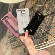 Luxury Lace pattern With Hand Strap stand back cover case for iphone 6s Plus