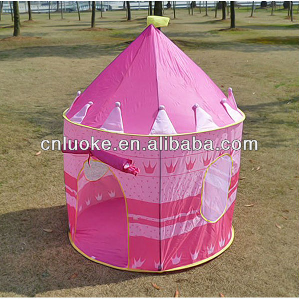 Pink princess castle kid play tent