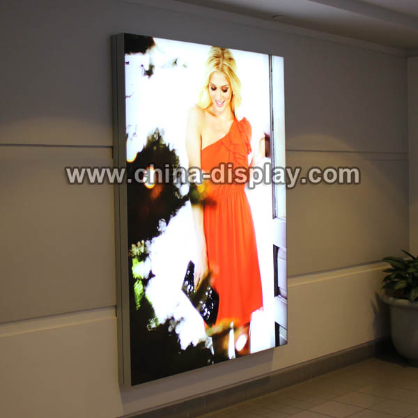 Advertising flex light box wall mounted textile backlit backdrop