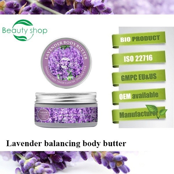 Lavender Balancing & Mositurizing Private Label Body Butter Wholesale 220g