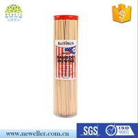 Best sell Safe flat wooden skewers with opp bag