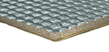Self adhesive clad aluminum fireproof acoustic foam heat insulation material