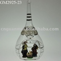 Hot souvenirs religious glass crafts for Jesus birth