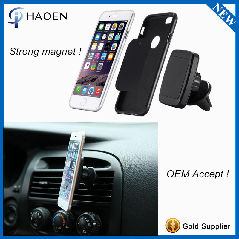 2016 Newest Magnetic Air Vent Mount Universal 360 Rotation Magnet Cell Phone Car Mount Mobile Phone Holder