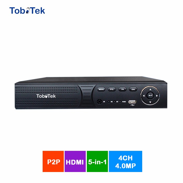 hot sell Tobotek HD 4ch DVR 4mp 5mp 5in 1 hybrid with 2 ways audio
