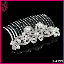 Fashion Wedding Large Bead Tiara Butterfly Hair Comb Wholesale