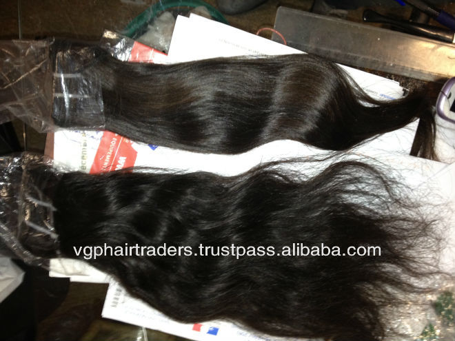 Unprocessed Raw Natural Temple Human Hair Virgin Indian Hair