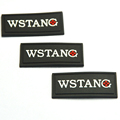 Custom non toxic garment/clothing/bag 3D embossed soft rubber pvc patch