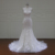 Mermaid sleeveless saudi arabian wedding dress