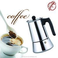 OGNIORA 2016 Italian Style Stainless Steel Professional Coffee Maker/ 10 Cup Coffee Pot