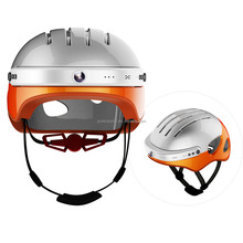 Green Pedel DOT certificated Video smart helmet when driving by bicycle or motorcycle for Europe market