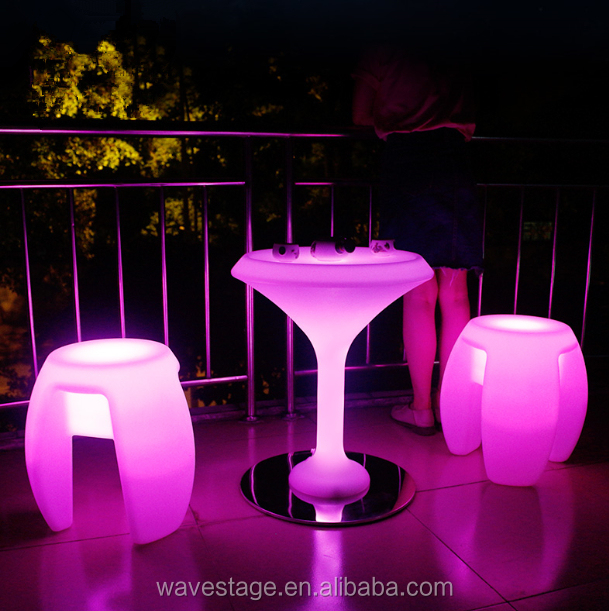 cheap prices small waterproof coffee table led liquid bar table illuminated bar table