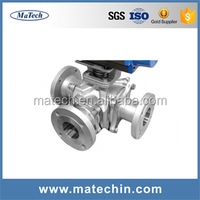 Food Grade Sanitary SS 304/316 Motorized Ball Valve For IC Card Meters/Water Treatment