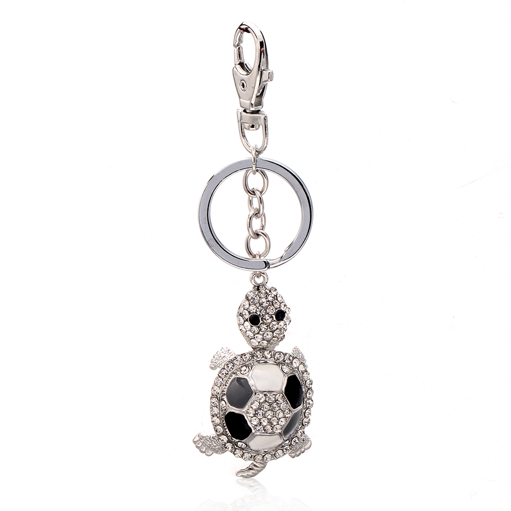 High quality wholesale promotional custom metal crystal sea turtle keychain