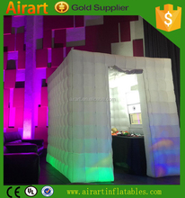 wedding decor ideas inflatable gradient ramp color photo booth with led lighting