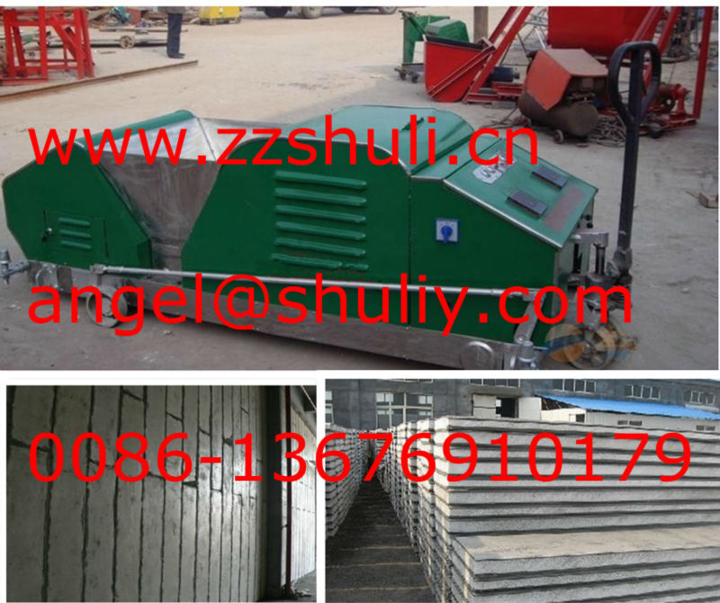 precast concrete hollow core wall panel machine/lightweight concrete panel making machine//0086-13676910179