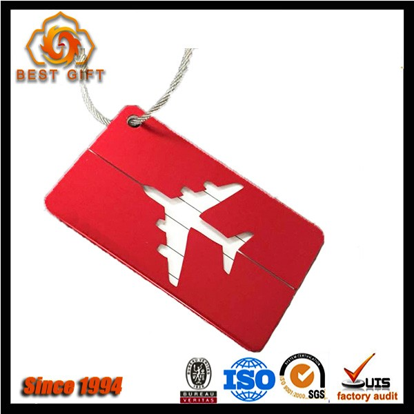 Popular cheap customized leather luggage tag