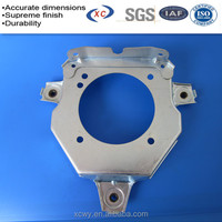 Custom round pipe base plate zinc plated steel stamping base plate
