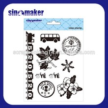 promotional gifts transparent oem clear stamp