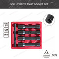 "5pc 1/2""Drive Twist Socket Set(VT01852)"