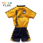 Separate mini football jerseys printing with plastic hanger and suction cup