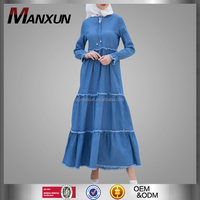 Wholesale Online Hotsale Jeans Abaya Fashionable Turkey Ladies Dresses Free Size Clothing