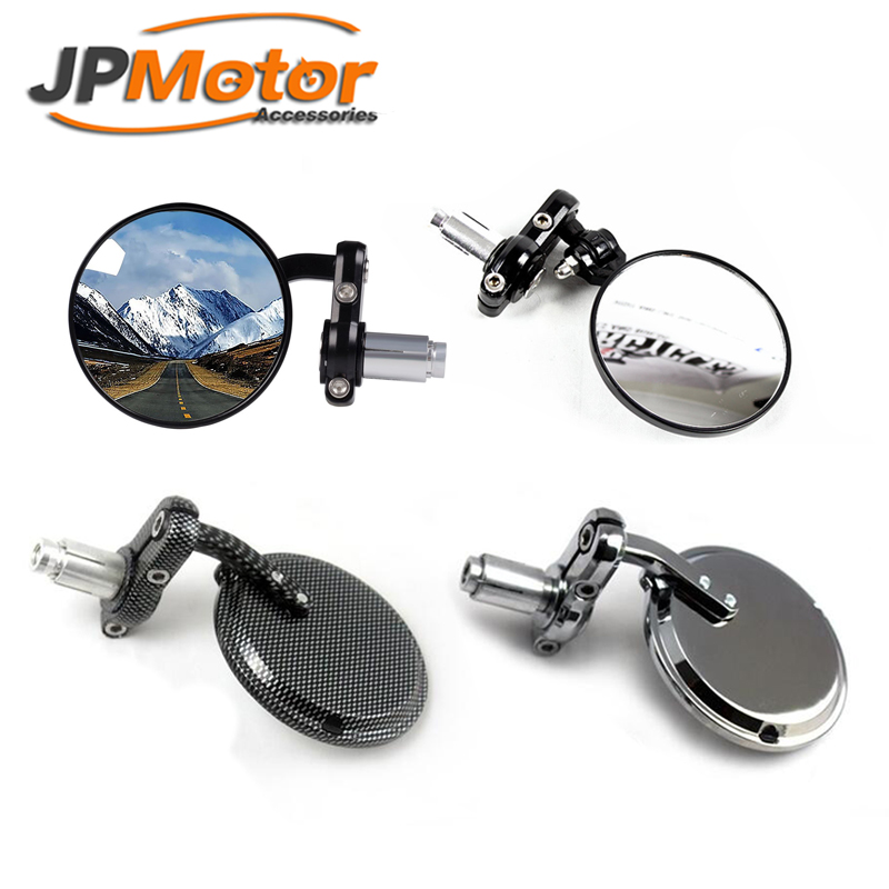 Chrome black carbon rearview mirror with 8mm 10mm install screws fit for any brand motorcycle cruiser scooter