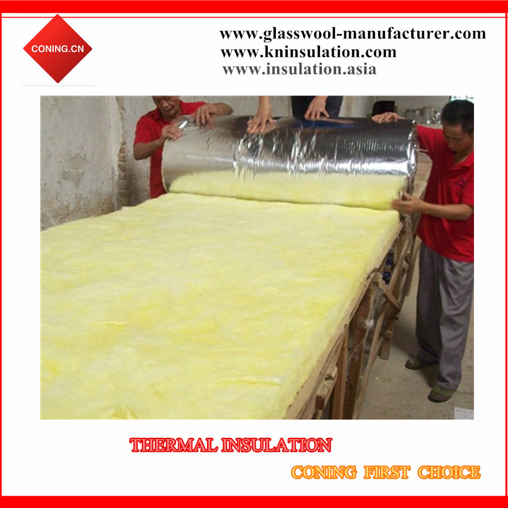 Mineral insulation fiber glasswool blanket with aluminum foil