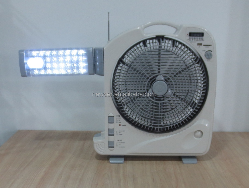 Powerful battery rechargeable USB fan with led light