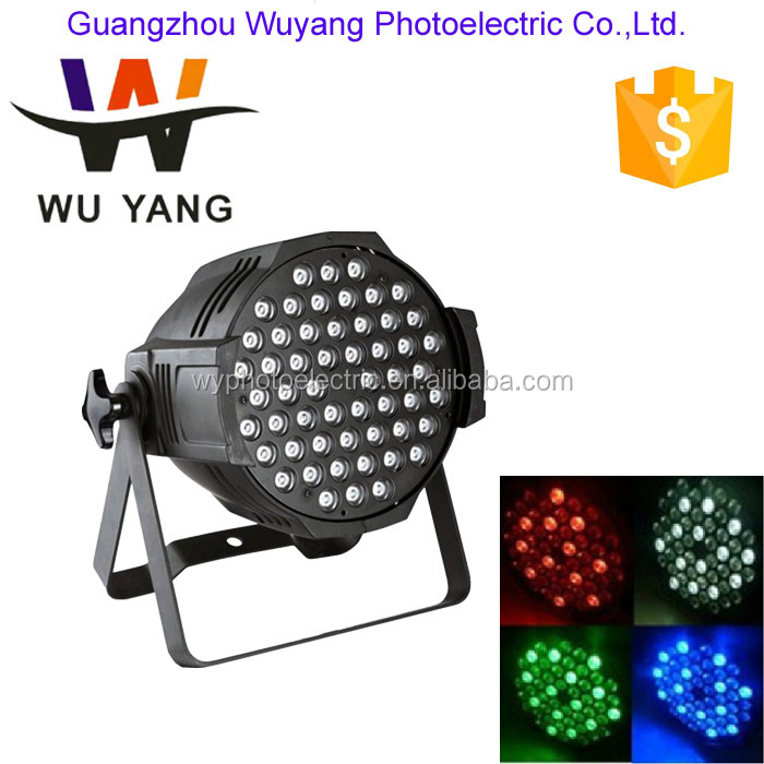 hot sale powerful dmx control 8CH 54*3W LED RGBW Stage Lights High Quality LED Par Can Light
