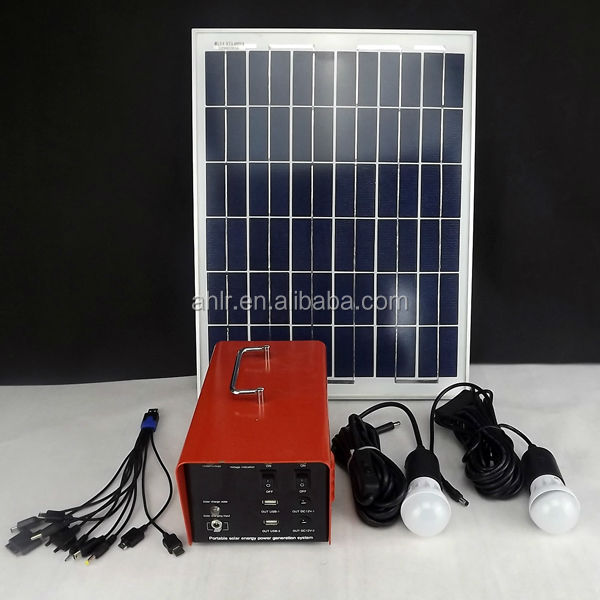 2014 New Design 10w portable solar enegy system kits for rural