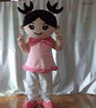 HOLA little girl mascot costume/mascote costumes