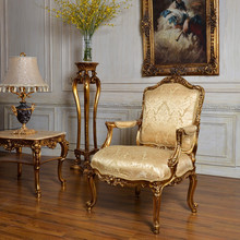 C59 Antique Gold Classic Bedroom and Living Room Single Sofa Chair