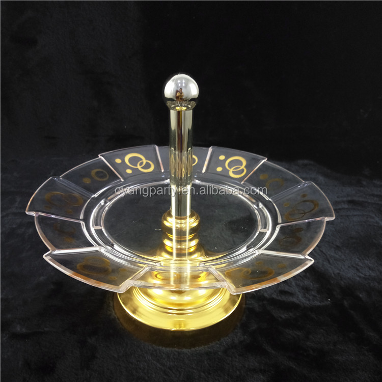 Cyang Round Shaped Cupcake Holder Crystal Clear Acrylic Sweet Stand CY-2015QG