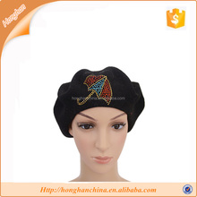 blak civilian wool beret hat