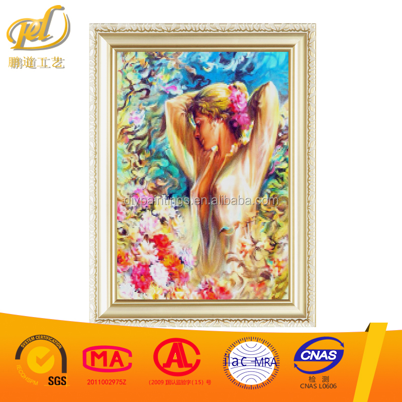 DIY Diamond Embroidery Square Cross Stitch Mosaic Picture Of Rhinestones Diamond Painting Crystals 3d Fabric Beauty Women y126