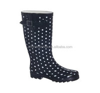 Beautiful color and printing women rubber rain boots