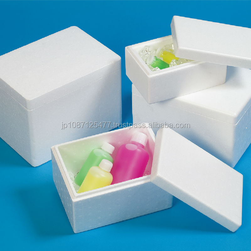 Water/Heat resistant disposable styrofoam packaging box available in many colors