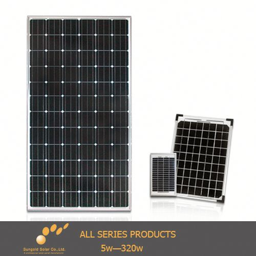 (2014 China OEM)alex solar monocrystalline solar panel 190w from sungold manufacturers