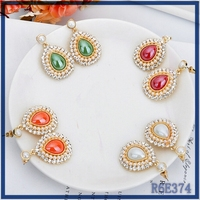 Free sample low cost European Latest top sell statement stylish artificial pearl drop earrings for women wedding party