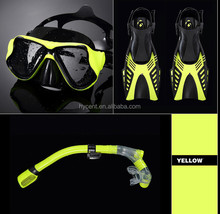 2016 New Diver Mask Diving Equipment Scuba Snorkeling Swimming Glasses Diving Fins Combo Sets